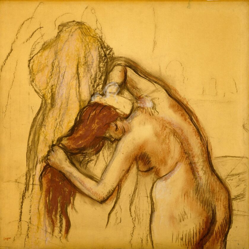 """Edgar Degas, """"Woman Drying Herself,"""" circa 1905, charcoal and pastel on paper"""