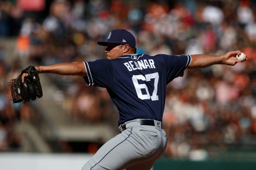 the best attitude dff83 3a0c9 Talking with ... Padres reliever David Bednar - The San ...