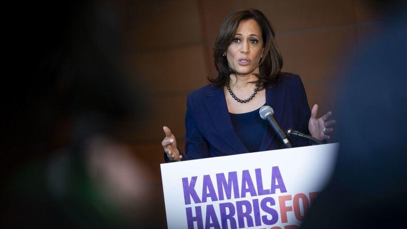 Sen. Kamala Harris (D-Calif.) announced her candidacy for president on Jan. 21 in Washington.
