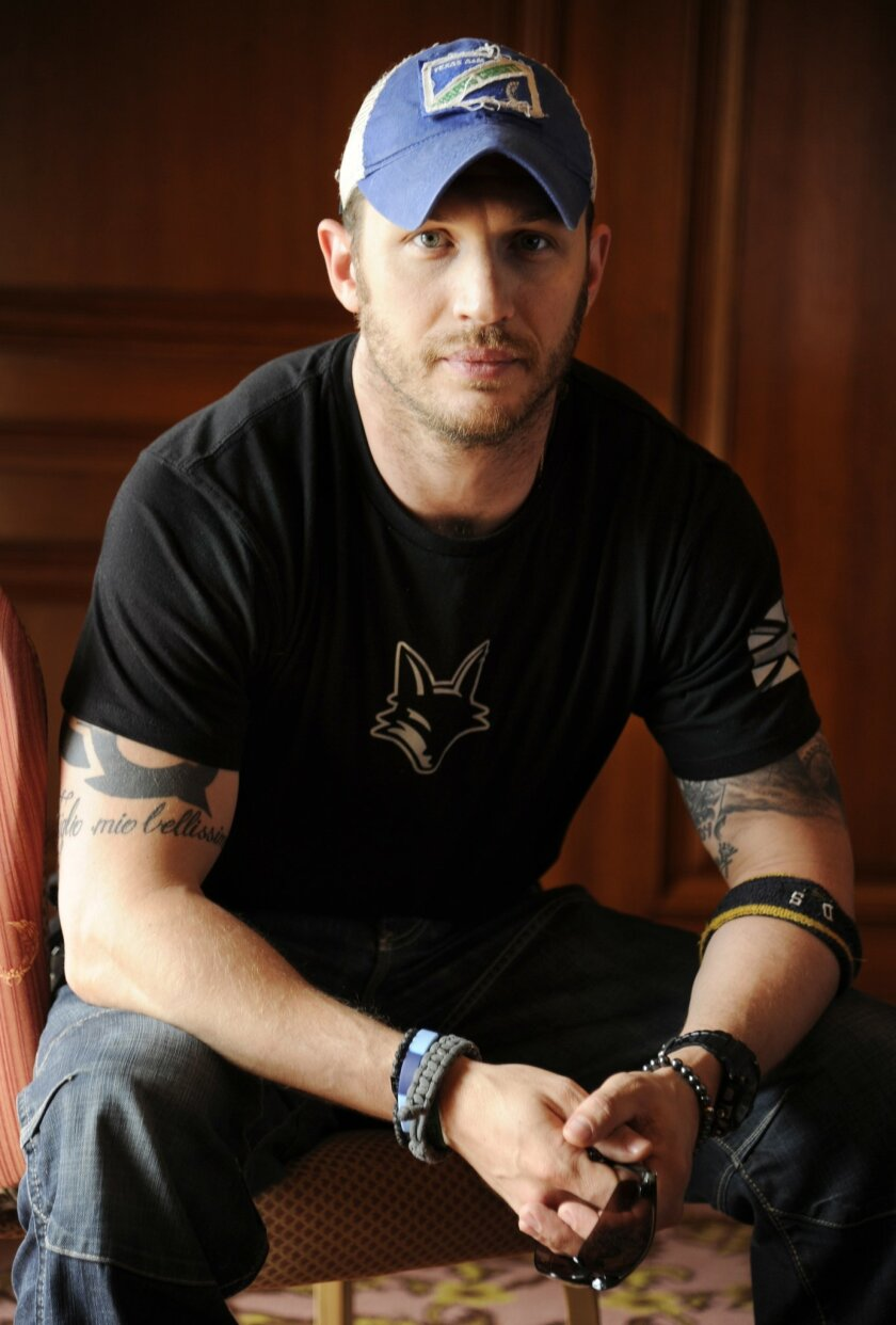 """Actor Tom Hardy, a cast member in the film """"The Drop,"""" poses for a portrait at the Fairmont Royal York hotel during the 2014 Toronto International Film Festival on Friday, Sept. 5, 2014, in Toronto. (Photo by Chris Pizzello/Invision/AP)"""