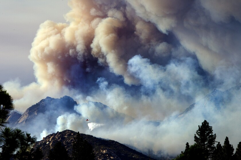 The Mountain fire began July 15, 2013, and burned through more than 27,500 acres. A property owner was sued Thursday for alleged negligence that led to the blaze.