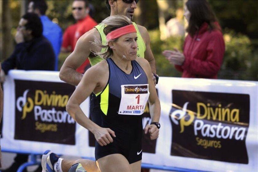 La atleta palentina Marta Domínguez. EFE/Archivo