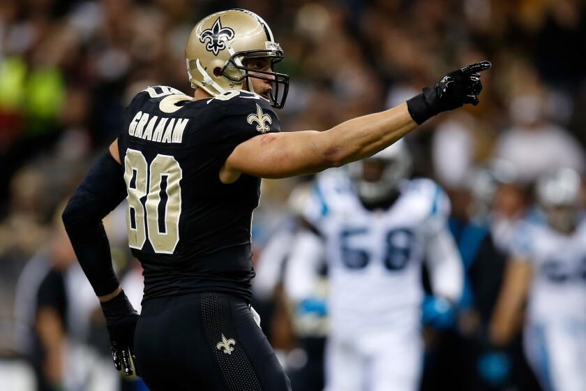 new styles f59c1 27076 Jimmy Graham and Saints agree to record contract - Los ...