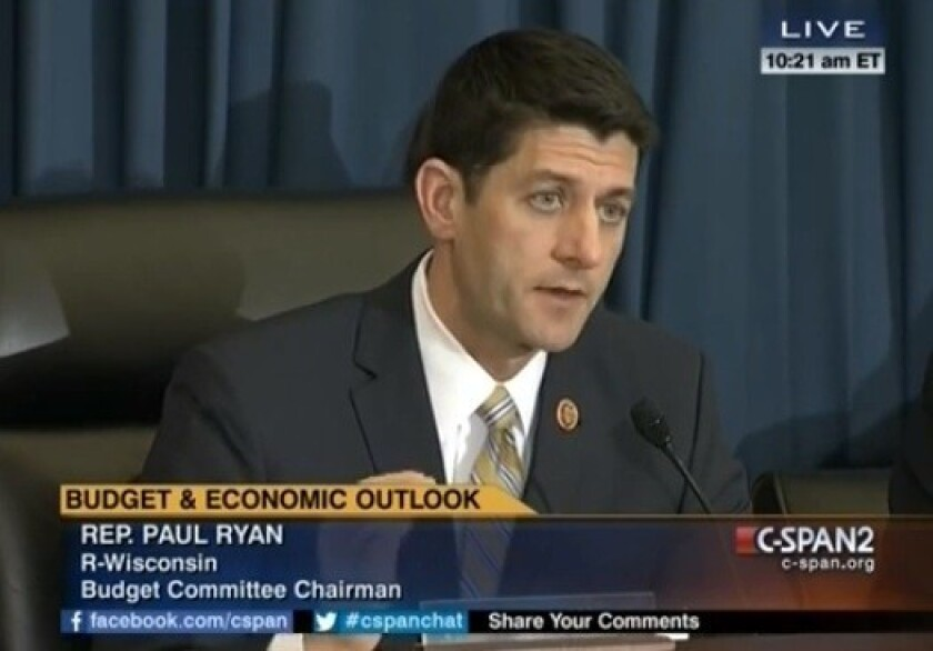 Rep. Paul Ryan (R-Wis.) explains the dignity of work during a House hearing.
