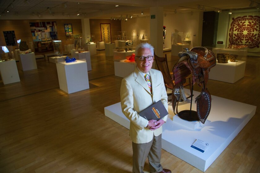 """Rob Sidner, director of the Mingei International Museum and curator of the """"Made in America"""" exhibit."""