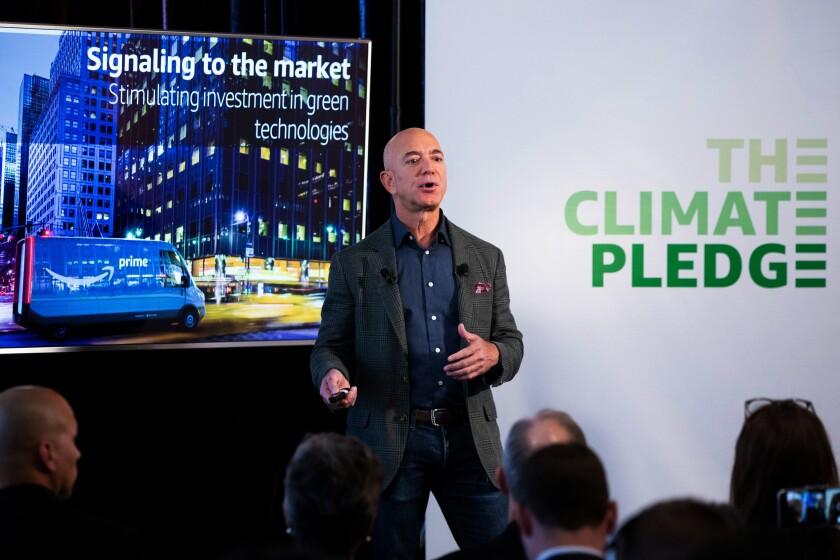 Jeff Bezos unveils Amazon's 'Climate Pledge' in September
