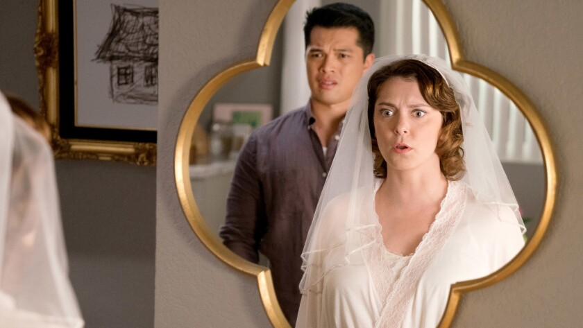 "Vincent Rodriguez III and Rachel Bloom in ""Crazy Ex-Girlfriend"" on the CW."