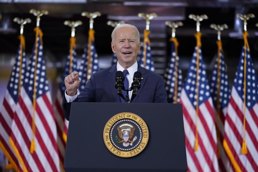 En esta foto del 30 de marzo del 2021, el presidente Joe Biden