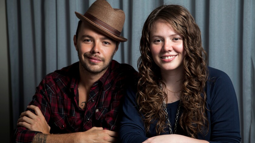 Brother and sister duo Jesse Huerta and Joy Huerta — better known as Jesse & Joy — in West Hollywood in 2013.