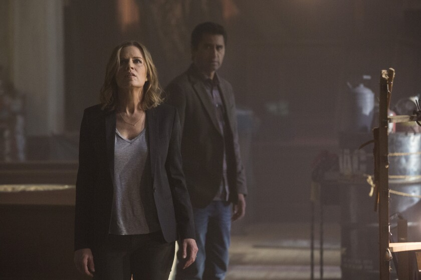 """Kim Dickens and Cliff Curtis star in the new """"Walking Dead"""" companion series."""