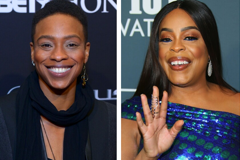 """Musician Jessica Betts, left, and """"Claws"""" actress Niecy Nash recently tied the knot."""