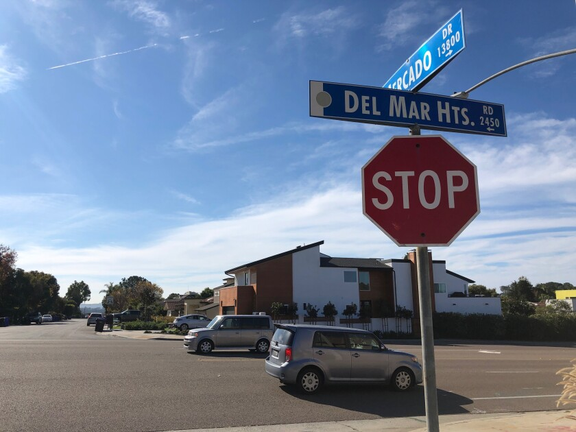 Traffic improvements along Del Mar Heights Road have been a contentious issue for local residents over the years. The Torrey Pines Community Planning Board signed off on a traffic signal at Del Mar Heights Road and Mercado Drive.