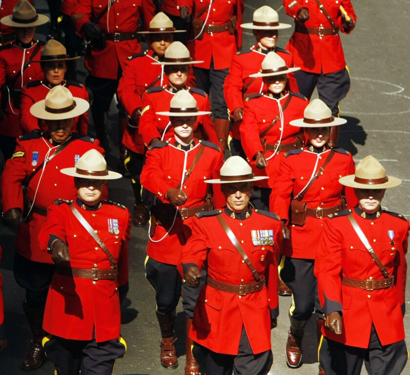 Royal Canadian Mounted Police officers