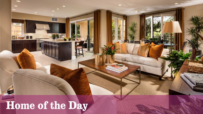 The residence, one of 72 units in Calabasas' new Avanti community, is listed for sale at about $1.39 million.