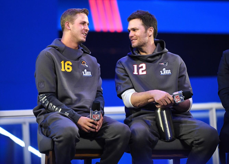 Jared Goff, Tom Brady