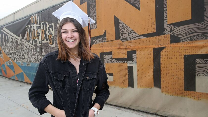 HBHS Senior Kylie Cochran's last day of school is June 7 and she will graduate with a perfect attend