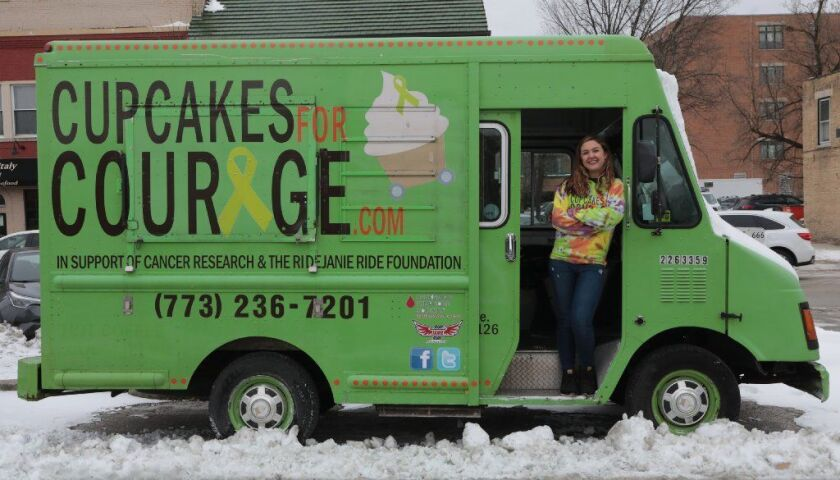 Laura Pekarik, owner of Cupcakes for Courage Bakery, is suing the city of Chicago, alleging its ordinance controlling food truck operations is unconstitutional. The case has reached the state Supreme Court.
