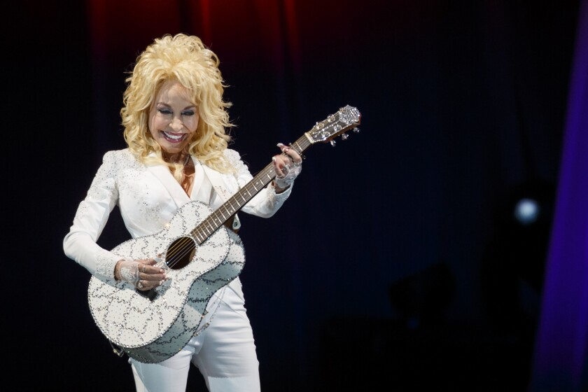 Dolly Parton performs live at the Hollywood Bowl during her Pure & Simple Tour on Saturday, October 1.