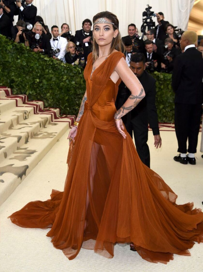 Paris Jackson attends The Metropolitan Museum of Art's Costume Institute benefit gala on May 7, 2018, She claims her ailing grandfather did not post the 'beautiful' tweet about his mortality on Sunday and possibly has no control over his verified Twitter account.