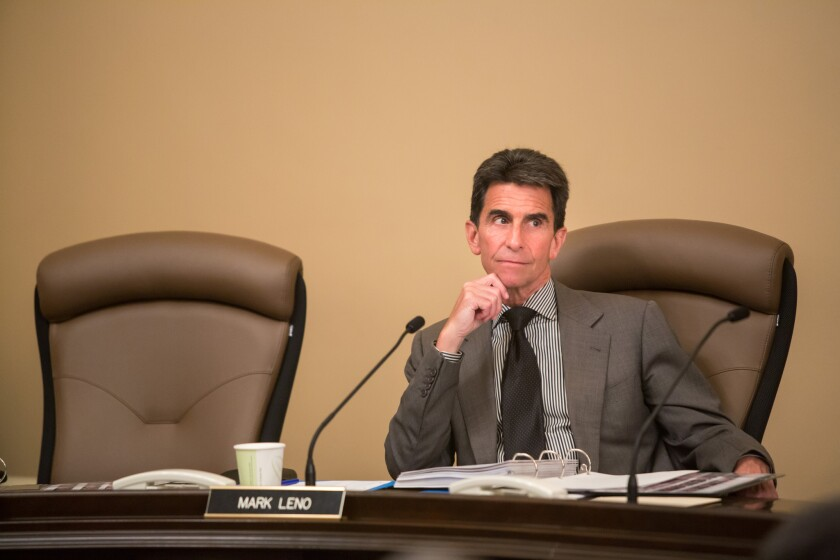 Sen. Mark Leno (D-San Francisco) at the state Capitol. Leno's bill would require law enforcement agencies in most circumstances to obtain a warrant for digital communications, such as e-mails.
