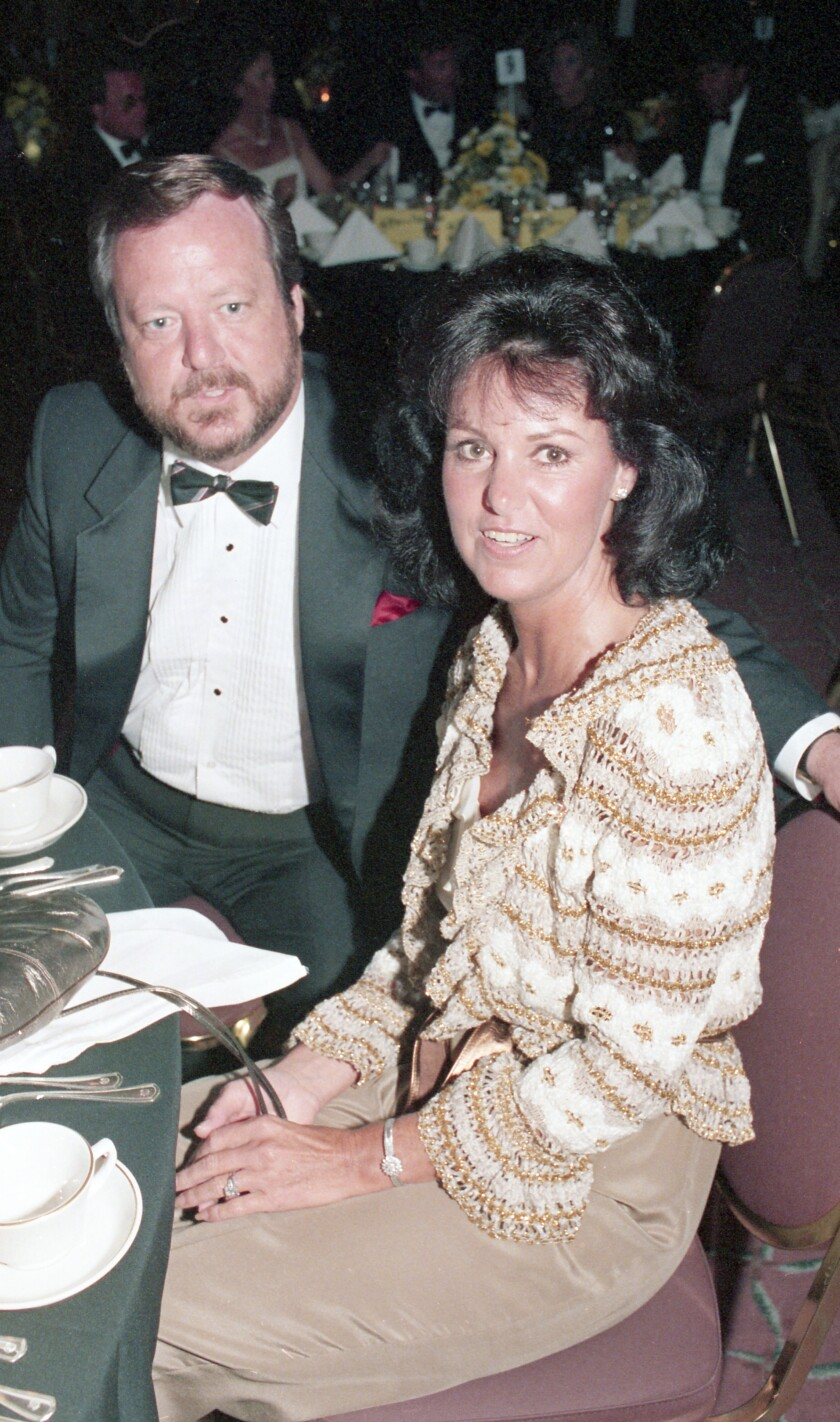 Bud Alessio and his wife, Kay, at a Catholic Charity Services ball at the Sheraton, Harbor Island in 1985.