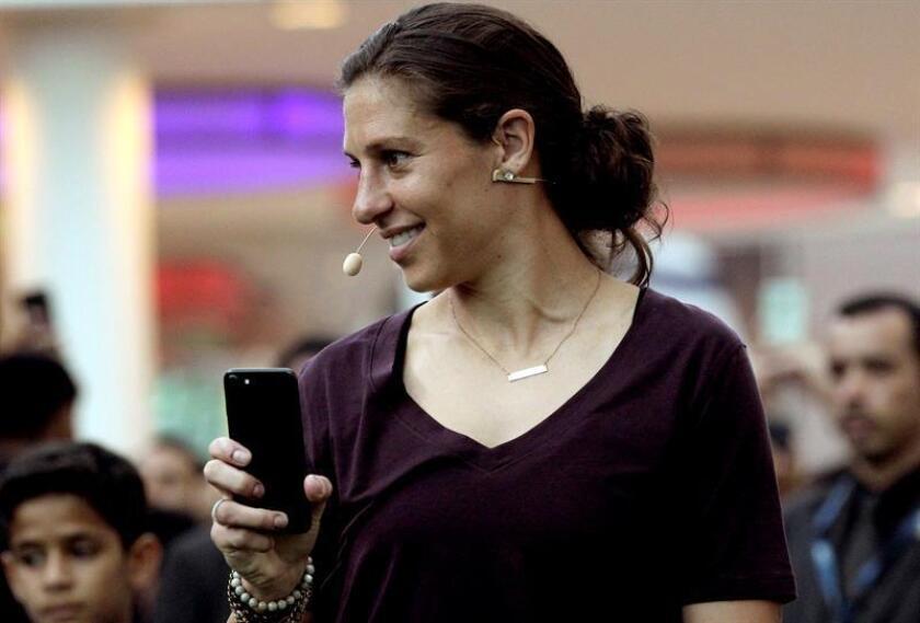 La jugadora de la selección femenina estadounidese de fútbol Carli Lloyd. EFE/Archivo