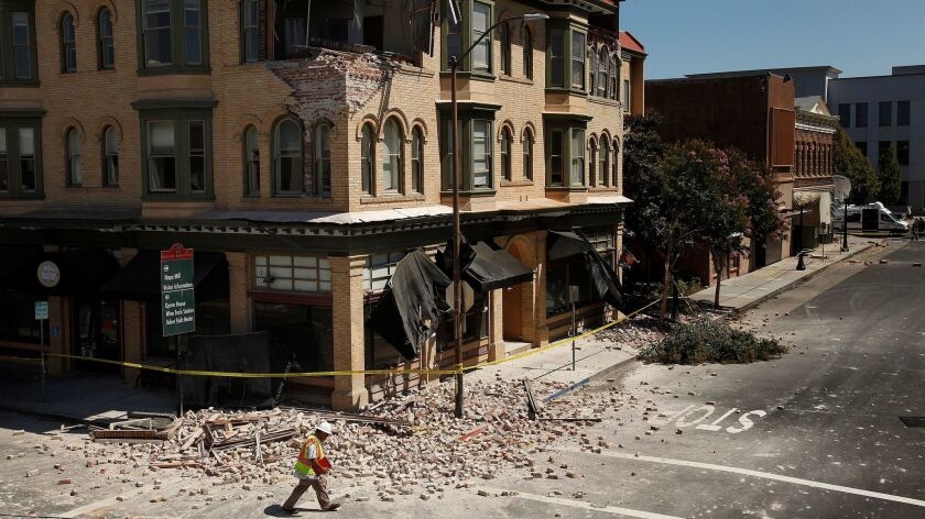NAPA, CA. -- SUNDAY, AUGUST 24, 2014 -- Dan Kavarian, cheif building official for the City of Napa,