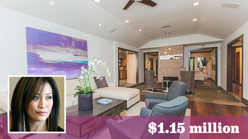 """""""Dancing With the Stars"""" judge Carrie Ann Inaba has sold her gated home in Valley Village for $1.15 million."""