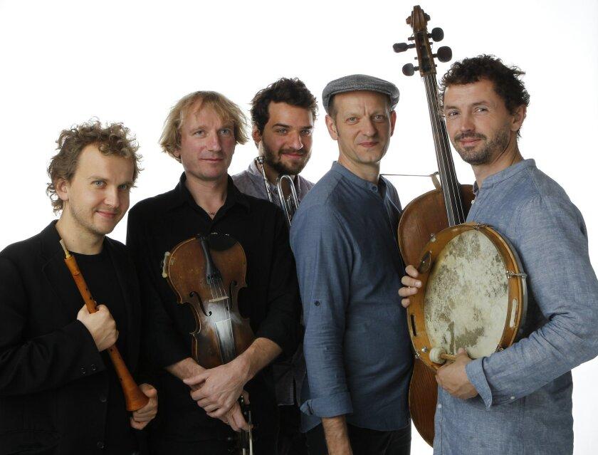 The Janusz Prusinowksi Trio, left to right, Michat Zak, Janusz Prusinowksi, Szczepan Pospieszalski, Piotr Zgorzelski and Piotr Piszcatowski.