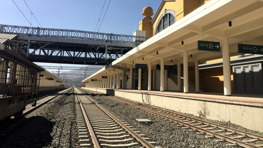 The new train station in Addis Ababa, Ethiopia, is one terminus of the Chinese-built Ethiopia-Djibouti Railway, which extends to the port of Djibouti.