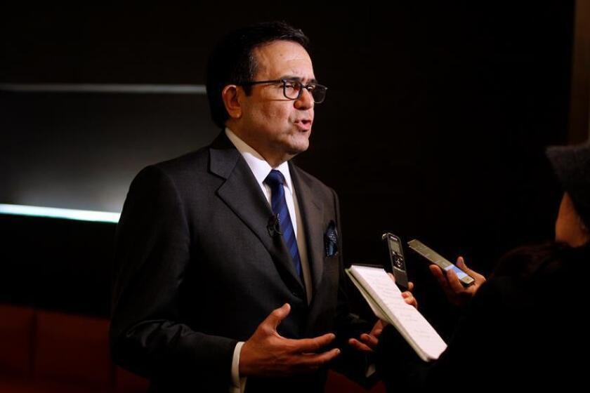 El secretario de Economía de México, Ildefonso Guajardo, responde a periodistas. EFE/Archivo