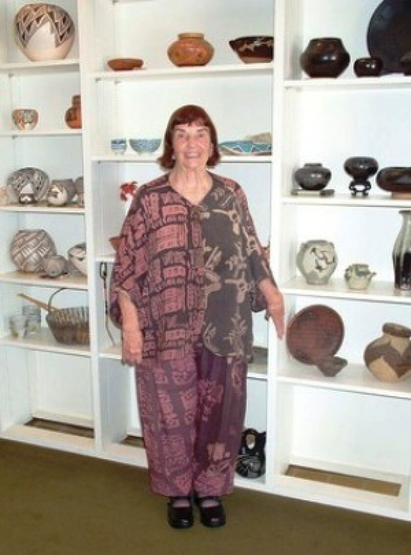 Susan Peterson began studying ceramics at Mills College in the 1940s and went on to write numerous books on the art of working clay and the lives of several American Indian women famous for their pottery.