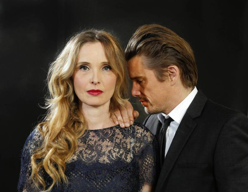 """""""Before Midnight"""" is the third movie in their series about the furtive romance between Celine (Julie Delpy) and Jesse (Ethan Hawke) that began with 1995's """"Before Sunrise."""""""