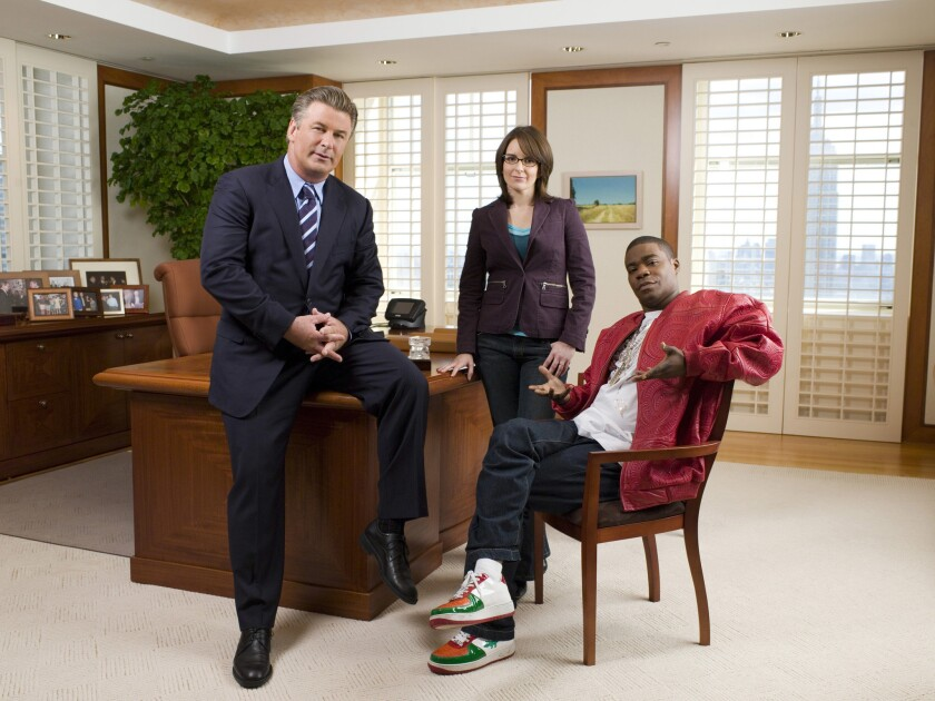 """30 Rock"" stars Alec Baldwin, left, Tina Fey and Tracy Morgan."