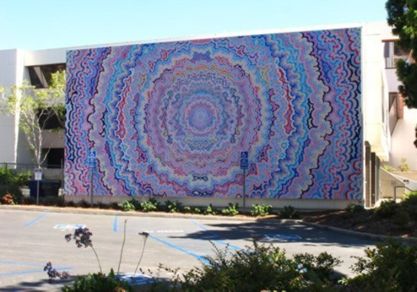 'One Pointed attention' by San Diego artist Kelsey Brookes was installed last week at 7835 Ivanhoe ave. It joins 12 existing murals in the murals of la Jolla public art project. Courtesy