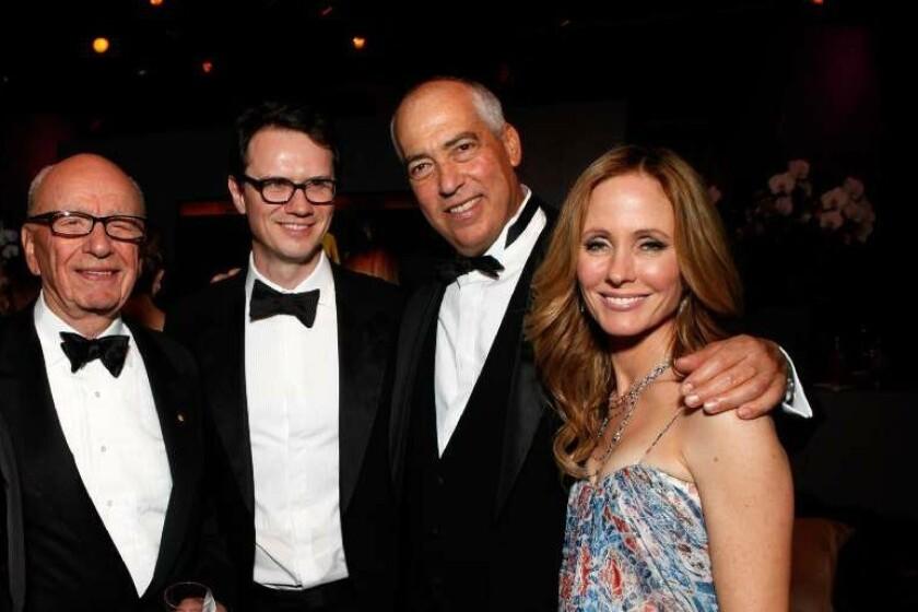 21st Century Fox CEO Rupert Murdoch with trusted lieutenants Peter Rice, Gary Newman and Dana Walden.