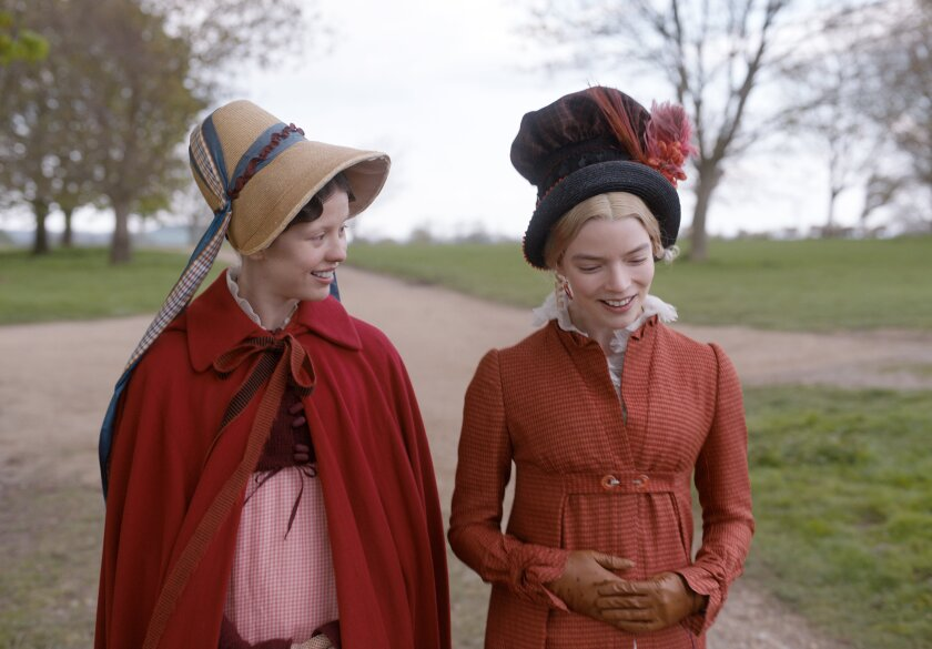 "Mia Goth and Anya Taylor-Joy in director Autumn de Wilde's ""Emma."""
