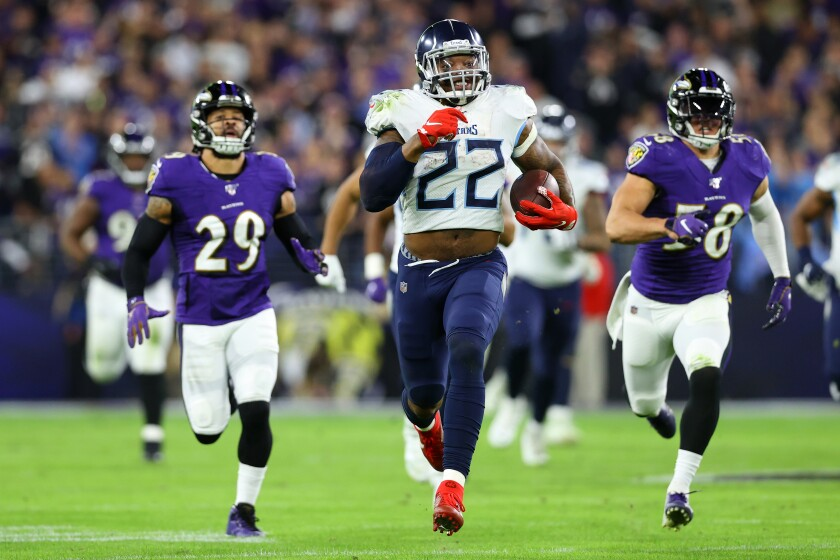 Running back Derrick Henry has been key to the Tennessee Titans' playoff success.