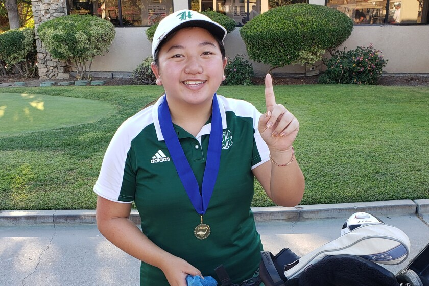 Helix golfer Jamie Lau has thrived in match-play competition.