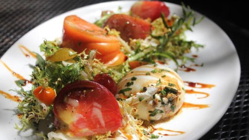 The heirloom tomato burrata salad from Urban Solace (Urban Solace)