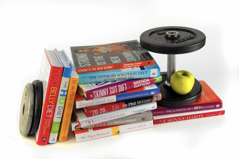There are plenty of books offering varied approaches to weight loss and fitness.