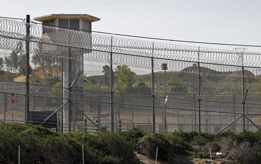 L A  County jail inmates were handcuffed to a wall for hours
