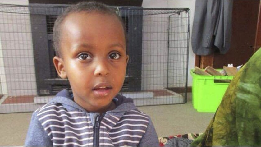 In this undated photo supplied by Abdi Ibrahim, shows a photo of his three-year-old brother, Mucaad,