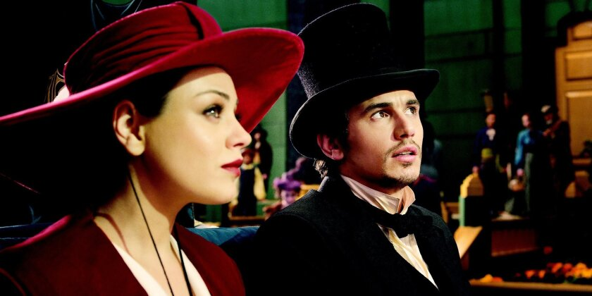 """""""OZ: THE GREAT AND POWERFUL"""" Mila Kunis, left; James Franco, right  ©Disney Enterprises, Inc. All Rights Reserved."""
