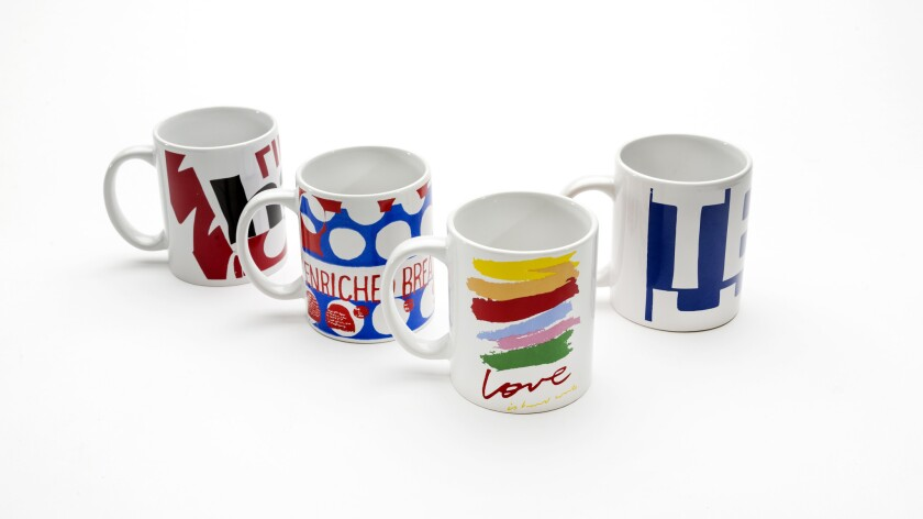 Bauer Pottery's Corita Kent mugs