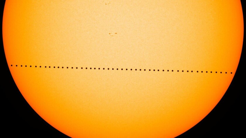 Mercury putting on rare show Monday, parading across the sun