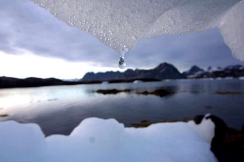 More storms falling over land have helped offset the rate of sea level rise caused by melting glaciers and ice sheets.