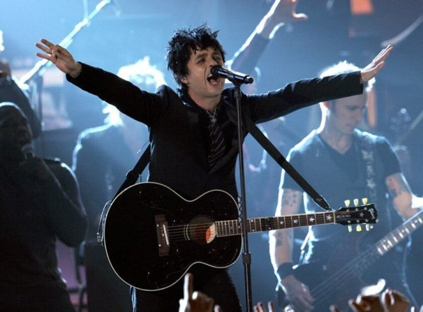 Billie Joe Armstrong of Green Day performs onstage during the 52nd Annual GRAMMY Awards.
