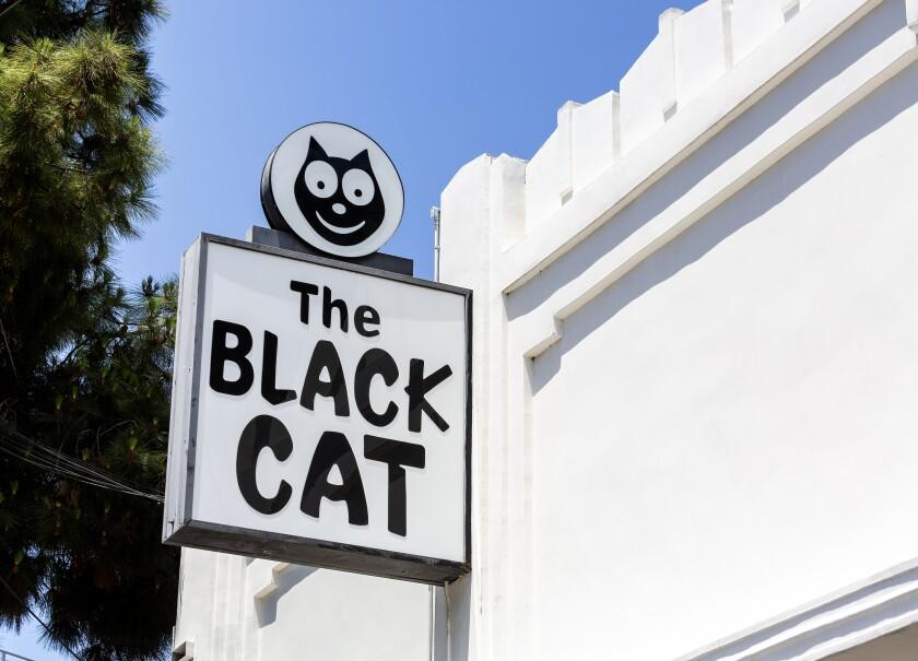 The Black Cat Tavern sign.