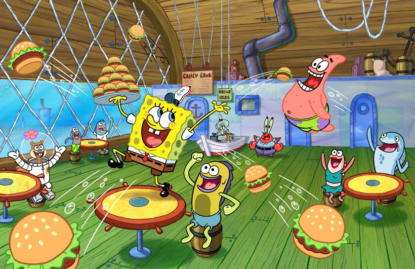 The musical draws on SpongeBob's biggest ambition in the series: to manage the Krusty Krab.